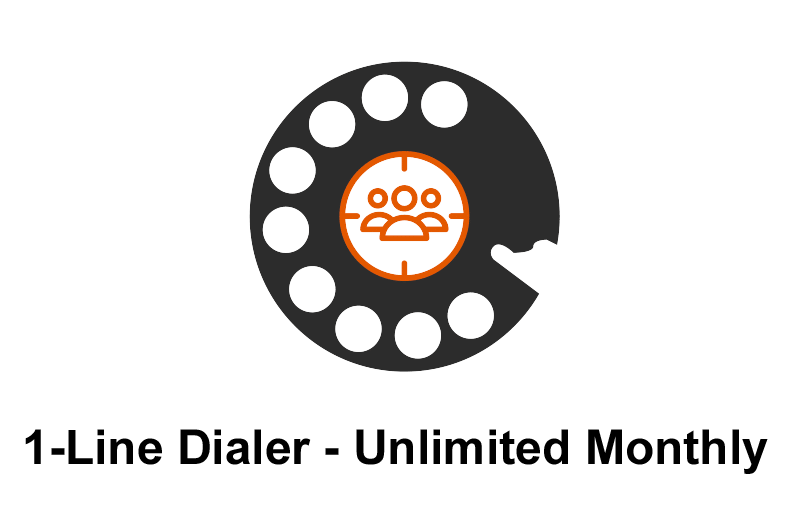 POWER DIALER CRM 1-Line Dialer Unlimited Monthly