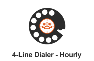 POWER DIALER CRM 4-Line Dialer Hourly
