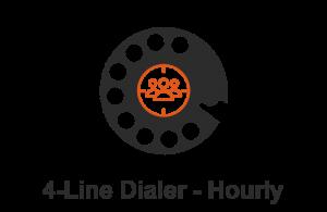 POWER DIALER CRM 4-Line Dialer Hourly