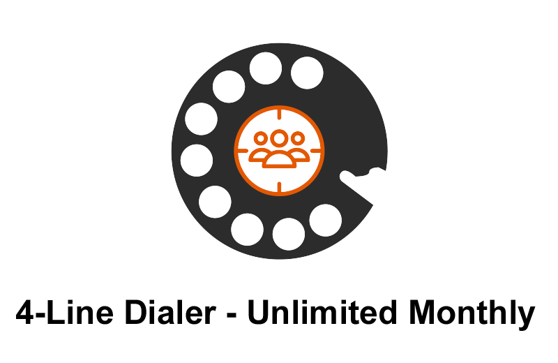 POWER DIALER CRM 4-Line Dialer Unlimited Monthly